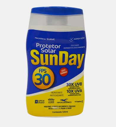 PROTETOR SOLAR FPS 30 1/3 UVA 120ML SUNDAY